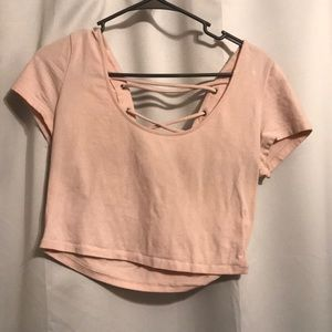 Forever 21 light pink crop top size large